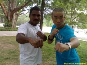 Shaolin Wushu Sanda Training