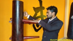 Wooden Dummy Training Teach Master Prabhakar Reddy