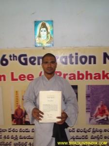 Martial arts Master Prabhakar Reddy