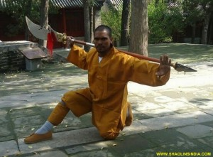 Shaolin Kung-fu Training Warrior Monk