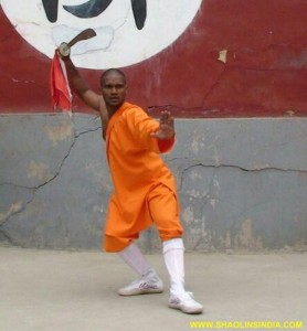 Shaolin Wushu Training Monk China