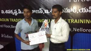 Shaolin monk Student Sujith Winner Championship 2012