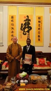 Shifu Prabhakar and Master Shi Yan Wu