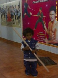 Shaolin Weapons Little Kid