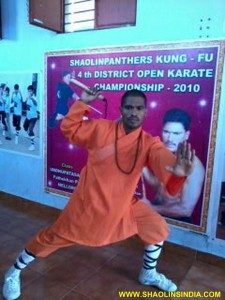 Indian Kung fu Master Prabhakar