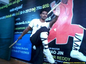 Shifu Prabhakar Reddy Weapons Practice