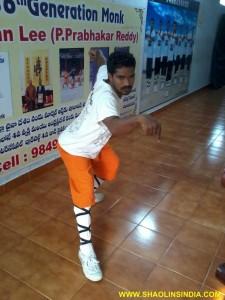 Kung fu Master Shifu Prabhakar
