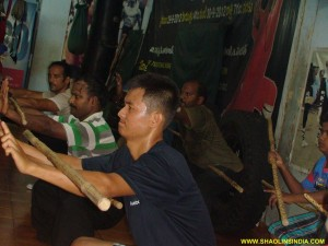 Shaolin Monk Warrior Hard Training