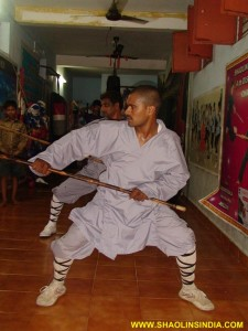 Shaolin Temple Staff Training Camp