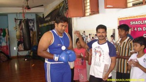 Indian Boxer Rajesh Nellore