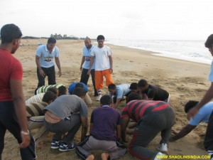 Shaolin Kung fu Hard Sand Training