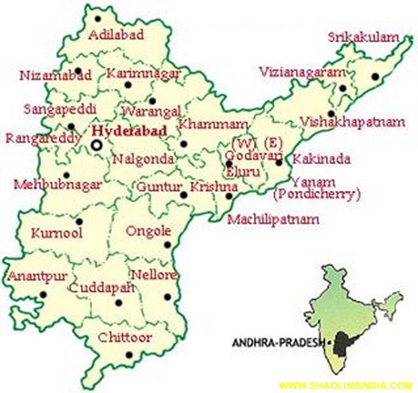 Where Is Hyderabad Located In India Map.Map Shaolin Kung Fu In Indian Shaolin Temple Warrior Monk Shifu