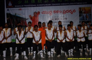 Shifu Prab hakar Reddy and Students Demonstrate Kung fu