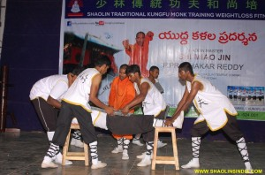 Andhra bShaolin Kung fu Monk Training Show
