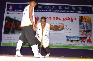 shaolin monk shifu prabhakar reddy students demonstrate
