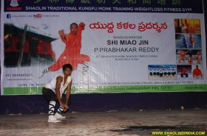 Demonstration Shifu Prabhakar reddy Student Sujith