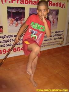 Shaolin Wushu Monk Gun Training