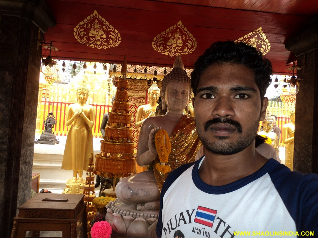 Martial arts Expert Trainer in side Buddha Temple