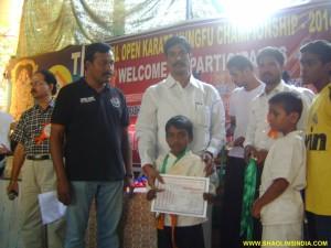 Tamilnadu Karate Student
