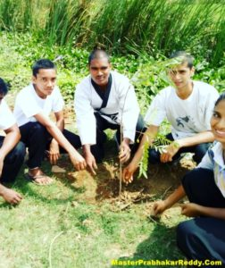 Grow Trees Save Earth Nellore Martial arts Master Prabhakar Reddy