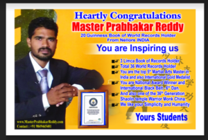 Martial arts Summer Camp Master Prabhkar Reddy Kung-fu