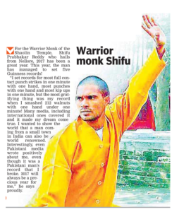 Indian Kung-fu Training Master Prabhakar Reddy