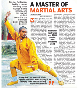 Kung-fu Training Monk Shifu Prabhakar Reddy